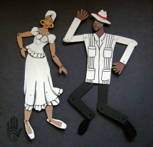 Bomba Couple Paper Dolls