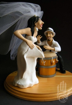 Hector Ortiz & Melody Chavez Wedding Cake Topper