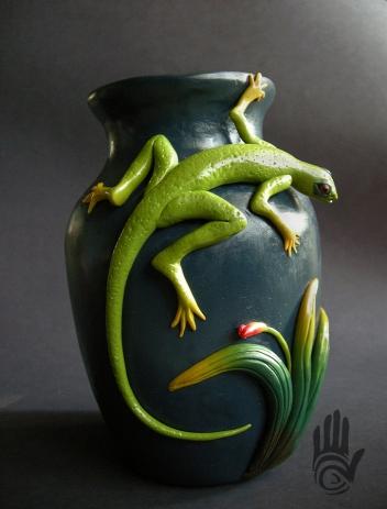 Lizard Vase