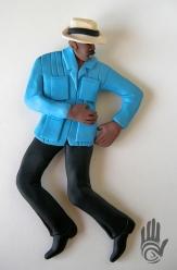 Male Bomba Dancer Blue