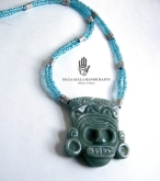 Taino Talisman Necklace - Aqua
